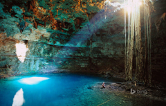 Wallpapers water light Mexico cave failure Valladolid Cenote