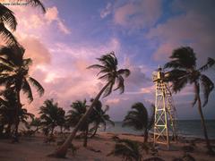 Known places Casa Blanca Lighthouse Yucatan Peninsula Mexico