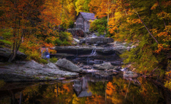 Wallpapers USA Mill Glade Creek Grist Mill West Virginia Nature