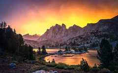 Mountains Wind Beautiful River Sky Wyoming Sunrise Basin Yellow