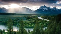 Beautiful River In Wyoming