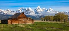 Mountain Nature Tetons Mountains Grand Wyoming Barn Usa Wallpapers