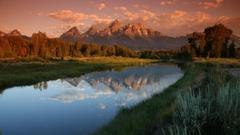 Tetons Tag wallpapers Wyoming Usa Nature Trees River Tetons