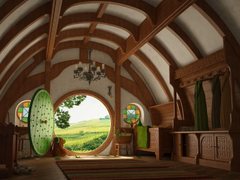 The hobbit Hobbiton the Shire middle earth Android wallpapers for