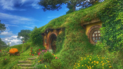 Wallpapers hobbiton movie set forest house fabulous new zealand hd