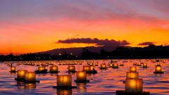 Honolulu Tag wallpapers Honolulu Memory Sunset Dusk Orange Oahu