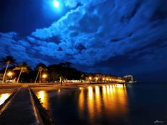 Evening Walk Waik k Beach Honolulu on the South Shore of the
