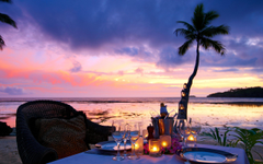 x1600 Fiji Fiji Exotic Nature Candles Romantic Sunset