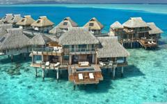 Hilton Bora Bora Nui Resort French Polynesia 4K HD Desktop