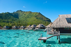 ocean bungalow hotel exotic moorea french polynesia HD wallpapers
