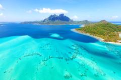 Wallpapers Bora Bora French Polynesia Sea Nature Tropics Landscape