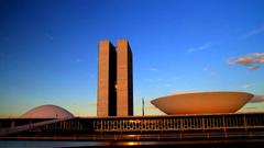 Brasilia Timelapse Ponte JK e Congresso Nacional