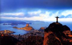 Dusk City Statue of Jesus Rio de Janeiro Brazil Wallpapers