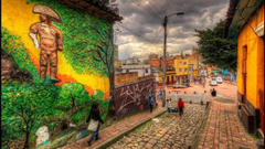 x768 Street Art Bogota The Flight Fare Street Art Wallpapers
