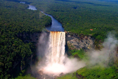 Waterfalls Kaieteur Falls Guyana Nature Waterfalls Forest Desktop