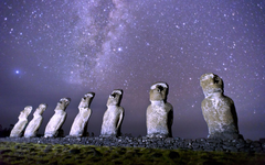 Wallpapers Magellanic clouds Easter Island Rapa Nui Moai statues