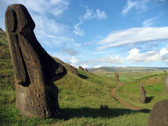 clear sky statue island easter island landscape wallpapers and backgrounds