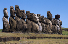 Moai Statues Easter Island Chile Travel Wallpapers