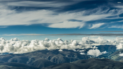 Clouds over the mountains of Cusco wallpapers
