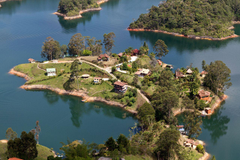 Wallpapers Laguna de Guatape Medellin Columbia Nature Lake Tropics
