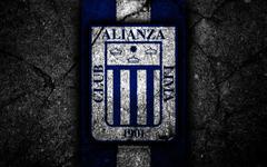 wallpapers 4k Alianza Lima FC logo Peruvian Primera