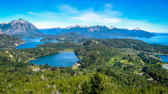 View of of the lakes mountains at Bariloche Argentina