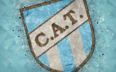 wallpapers Club Atletico Tucuman 4k logo geometric art