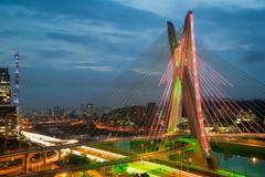 Wallpapers Brazil Bridges Rivers Sao Paulo Cities photo