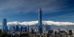 Los rascacielos y la cordillera Center La gran torre