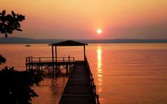 Atardecer en el Lago Ypacarai