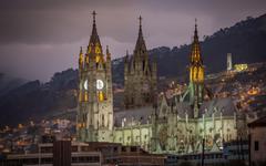 wallpapers Basilica Quito Roman Catholic church evening