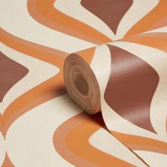 Graham Brown Superfresco Easy Choc Orange Retro Wallpapers