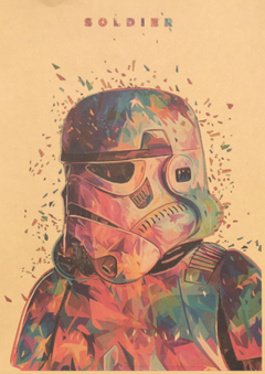 Full Hd Of Vintage Poster Star Wars Kraft Paper White Soldiers Retro