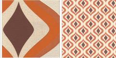 Discotecha Retro Orange Swirl Wallpapers RTO