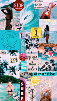 Surfing wallpapers collage