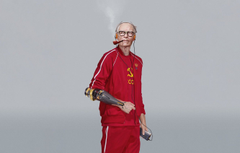 Wallpapers USSR Art Music Player Man Characters Cyber Science Fiction Old man Cyberpunk Grandfather Futuristic Eastern Promises Smoking pipe Christian Rinaldi Prosthetic image for desktop section