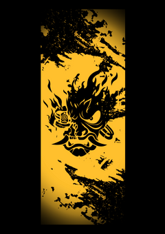 Used the Samurai Oni template to make this phone wallpapers for you