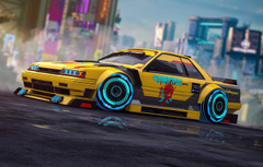 Wallpapers Yellow Nissan Car Fantasy Art Style Skyline Neon