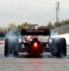 The rear of the Alfa Romeo Sauber C37 is absolutely beautiful