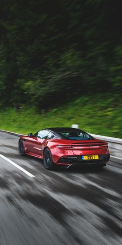 Rear view Aston Martin DBS Superleggera on
