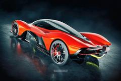 Aston Martin Valkyrie Rear by jackdarton