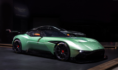 Wallpapers Aston Martin Vulcan coupe track only green Cars