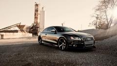 2015 Audi A4 Black Desktop Pics Wallpapers 1356