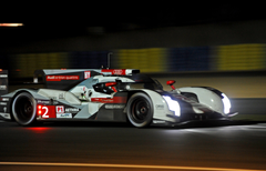 Leading Audi Into Garage With Eight Hours Left at Le Mans