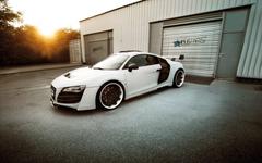 modifizierten Audi R8 schwarz weiß HD Desktop