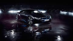 BMW i8 Matte Black Wallpapers
