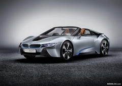 SPIED BMW i8 Spyder caught testing with roof on
