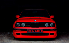 BMW E30 Cars Red Rouge