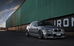Silver BMW M3 E46 Buildings Warehouse HD Wallpapers