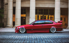 BMW M3 E36 Low Ride Paved Street HD Wallpapers